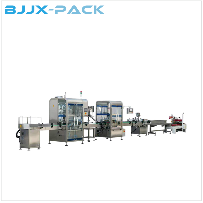 Automatic Linear type liquid filling complete line Featured Image