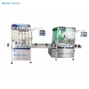 Automatic 4 nozzles filling and double station capping machine