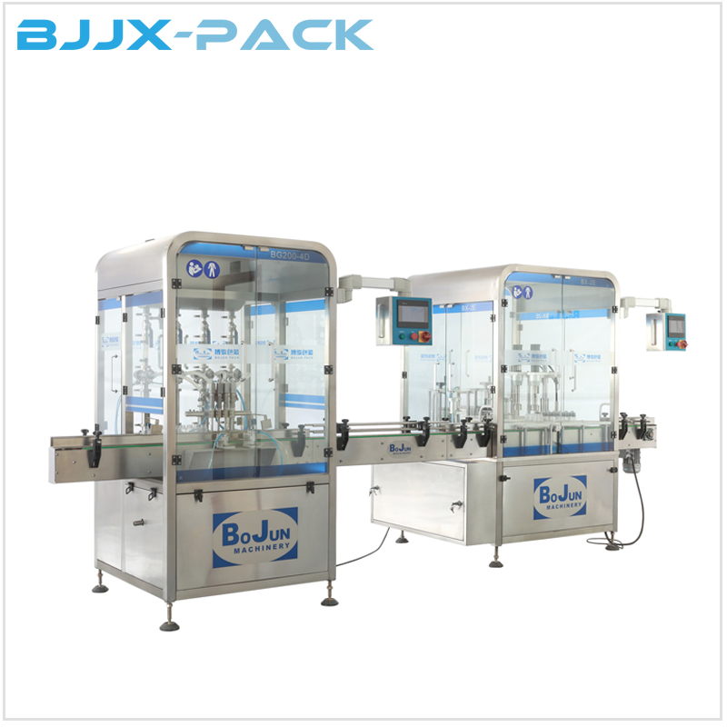BG200-4D Automatic  4 nozzles filling and double station capping machine Featured Image