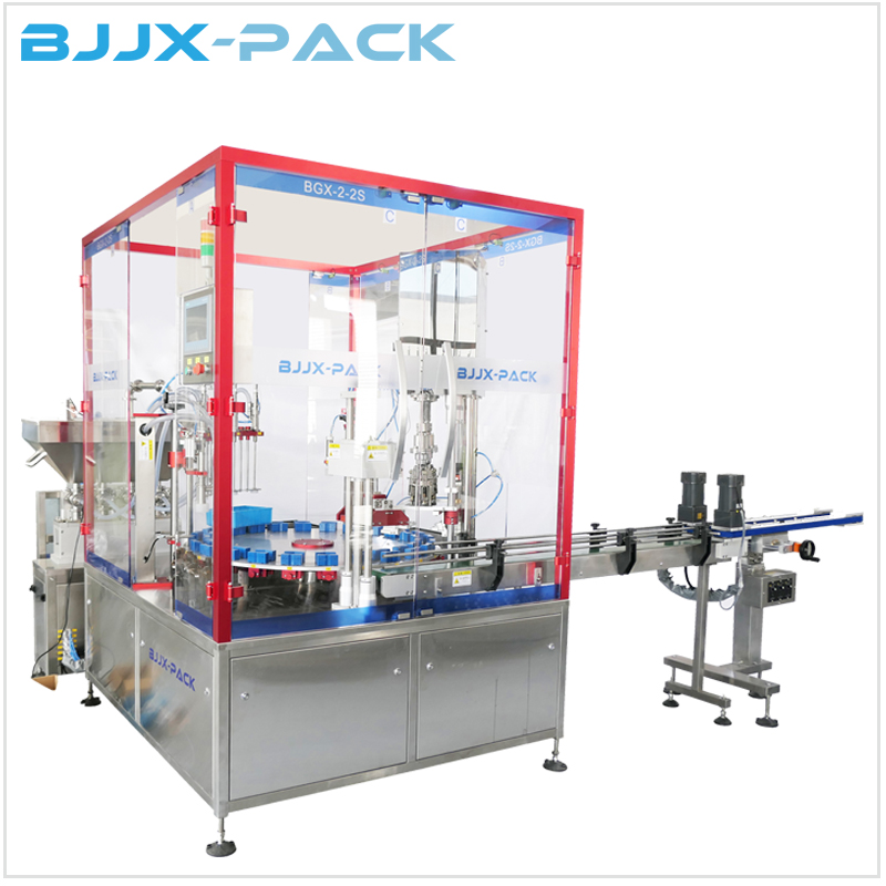 BGX-2-2S Automatic Liquid Rotatory Multi-Function Bottle Filling and Capping Production Machine Featured Image